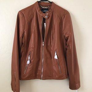 Express Faux Leather Jacket Size Large NWT